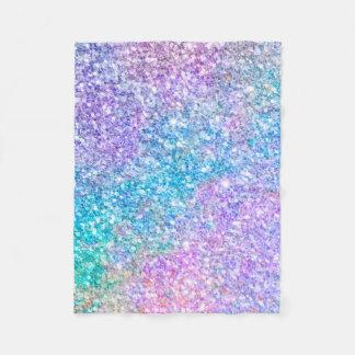 Colorful Modern Glitter Texture Fleece Blanket