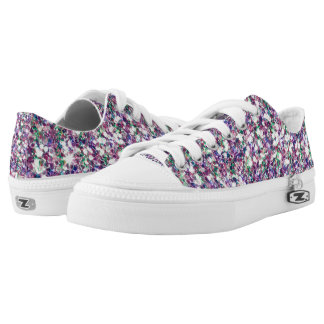 Colorful Modern Glitter Texture Print Low-Top Sneakers