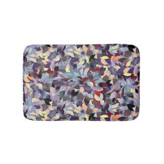 Colorful Modern Leaf Pattern Bath Mat