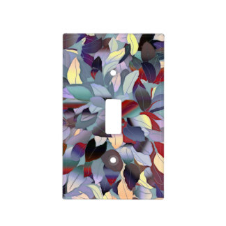 Colorful Modern Leaf Pattern Light Switch Cover