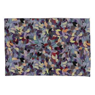 Colorful Modern Leaf Pattern Pillowcase