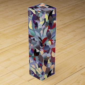 Colorful Modern Leaf Pattern Wine Gift Box