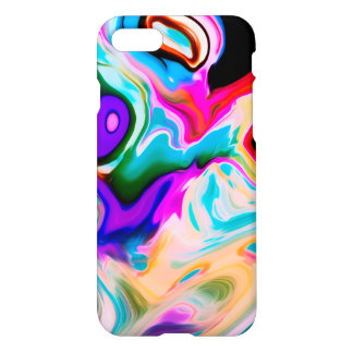 Colorful Modern Marble Swirls iPhone 8/7 Case