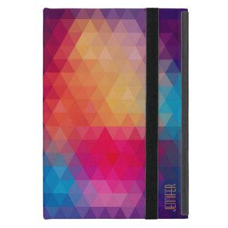 Colorful Modern Mosaic Geometric Pattern Covers For iPad Mini