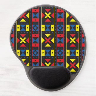 Colorful Modern Ornamental Pattern Gel Mouse Pad