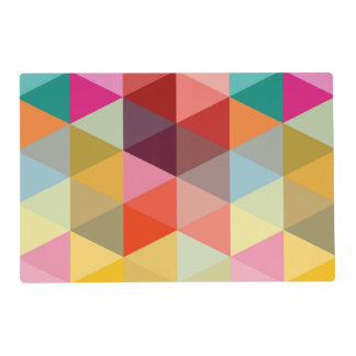 Colorful Modern Palette Triangle Pattern Placemats Laminated Placemat