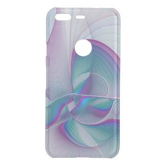 Colorful Modern Pink Blue Turquoise Fractal Art Uncommon Google Pixel Case