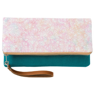 Colorful Modern Strings - Pearl Pastel Clutch