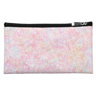 Colorful Modern Strings - Pearl Pastel Makeup Bag