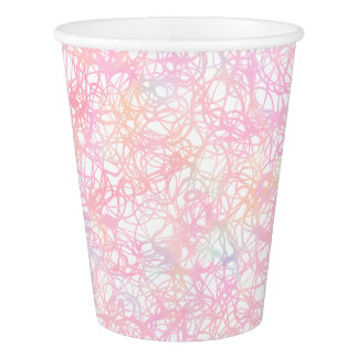 Colorful Modern Strings - Pearl Pastel Paper Cup