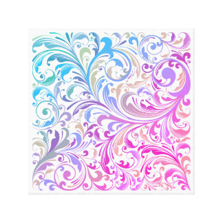 Colorful Modern Swirl Pattern Canvas Wall Art
