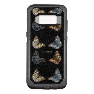 Colorful Modern Trendy Colors Butterflies Drawing OtterBox Commuter Samsung Galaxy S8 Case