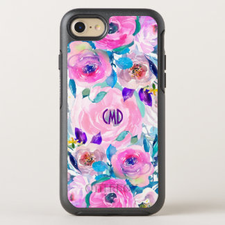 Colorful Modern Watercolors Flowers Collage 2 OtterBox Symmetry iPhone 8/7 Case