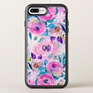 Colorful Modern Watercolors Flowers Collage OtterBox Symmetry iPhone 8 Plus/7 Plus Case
