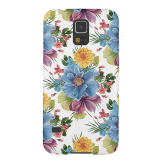 Colorful Modern Watercolors Flowers Pattern GR2 Galaxy S5 Case