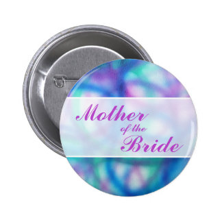 Colorful Modern Wedding. Mother of the Bride 2 Inch Round Button