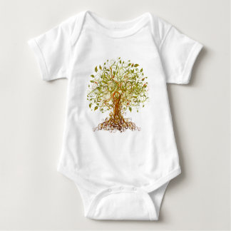 Colorful Modernist Tree 13 Baby Bodysuit