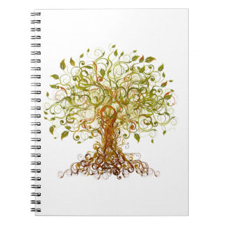 Colorful Modernist Tree 13 Spiral Notebook