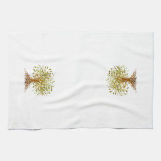 Colorful Modernist Tree 13 Towel