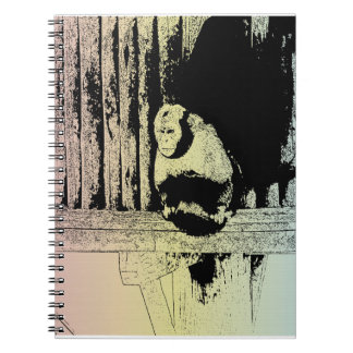 Colorful Monkey Illustration - POP-ART Spiral Note Books