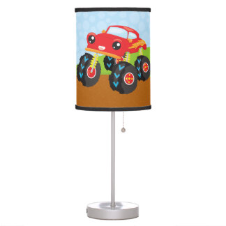 Colorful monster truck table lamp