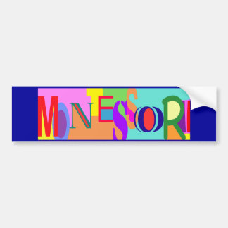 Colorful Montessori Bumper Sticker
