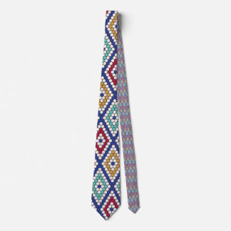 Colorful Moroccan Geometric Tile Print Tie