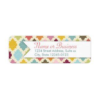 Colorful Moroccan Quatrefoil Custom Address Labels