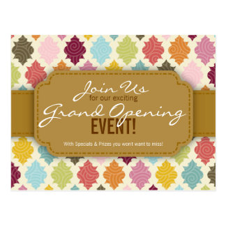 Colorful Moroccan Quatrefoil Custom Event Cards