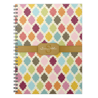 Colorful Moroccan Quatrefoil Custom Notebook