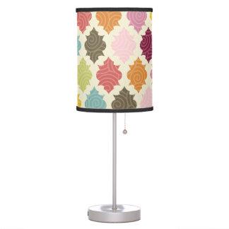 Colorful Moroccan Quatrefoil Decorative Lamp
