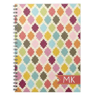 Colorful Moroccan Quatrefoil Pattern Note Book