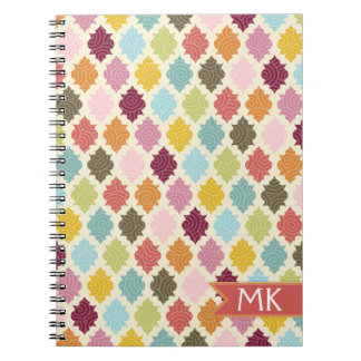 Colorful Moroccan Quatrefoil Pattern Notebook