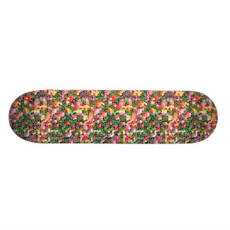 Colorful Mosaic Design Skateboard Deck