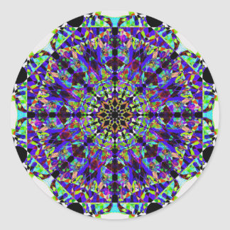 Colorful Mosaïc Mandala Classic Round Sticker