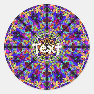 Colorful Mosaic Mandala Classic Round Sticker
