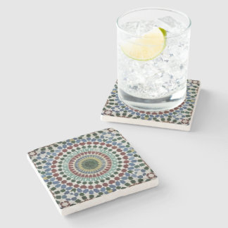 Colorful Mosaic Moroccan Style Stone Coaster