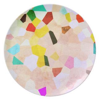 Colorful Mosaic Pattern Plate