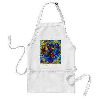 Colorful mosaic peace symbol standard apron