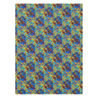 Colorful mosaic peace symbol tablecloth