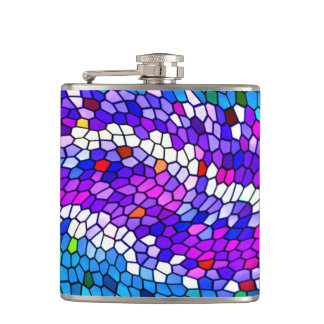 Colorful Mosaic Tile Pattern Flask