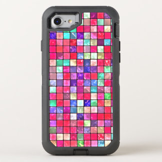 Colorful Mosaic Tile Pattern OtterBox Defender iPhone 7 Case