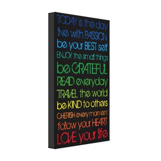 Colorful Motivation Canvas Print