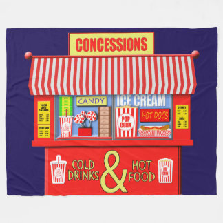 Colorful Movie Theater Concessions Stand Fleece Blanket
