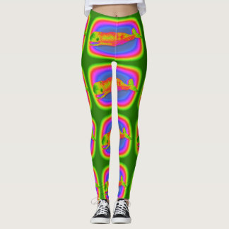 colorful multi-color whales green leggings