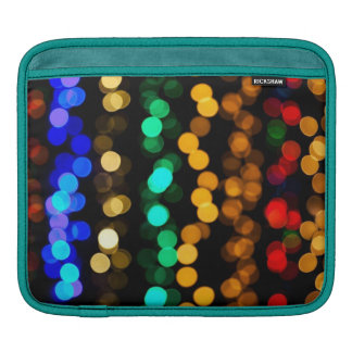 Colorful Multi Colored Lights iPad Sleeve