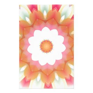 Colorful Multi-layered Flower Kaleidoscope Stationery Design