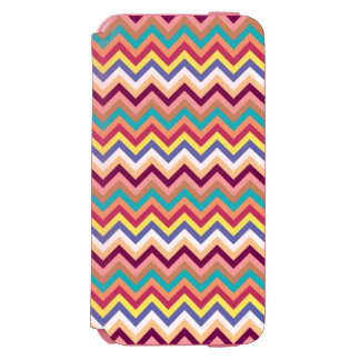 Colorful Multicolor Chevron Pattern Incipio Watson™ iPhone 6 Wallet Case