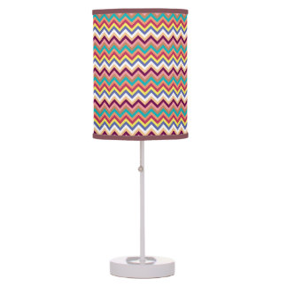 Colorful Multicolor Chevron Pattern Table Lamps