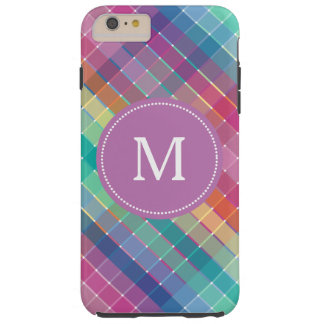 Colorful Multicolor Rainbow Monogram Tough iPhone 6 Plus Case